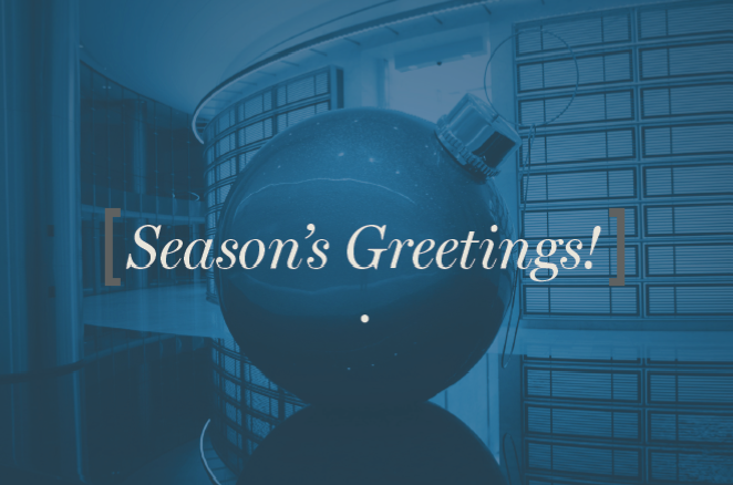Season's Greetings! (from behind the lens)